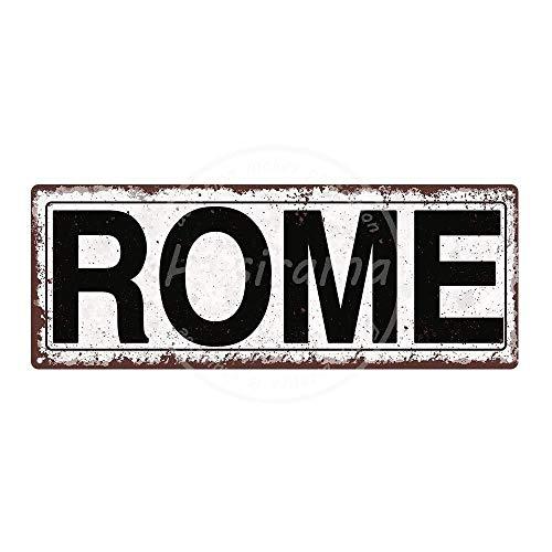 """""""Not Rom"""" Eisenbild, Blechschild, Wanddekoration, Vintage-Stil, dekoratives Poster, Warntafel, Dekoration für Zimmer, Café, Bar, Club, Garten, Parken (30 cm x 15 cm)"""