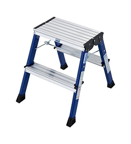Krause 130082 Rolly - Escalera plegable (2 x 2 peldaños), color azul
