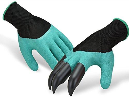 Guanti da giardinaggio traspiranti Genie, con artigli in plastica ABS per scavare, piantare e occuparsi del vivaio.