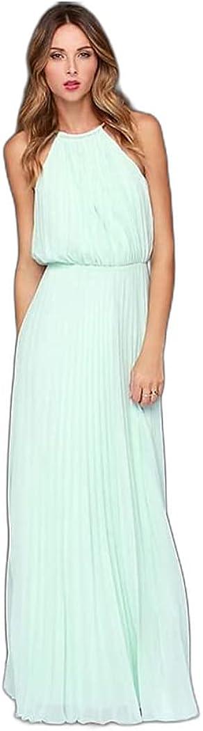 Women's Swing Dress Maxi Long Dress White Blushing Pink Wine Black Light Blue Sleeveless