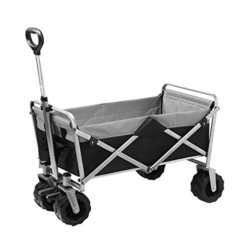 EDANQ Outdoor Garden Cart,Collapsible Grocery Wagon,with Wheels Trolley Cart for Beach Fishing Camping,19.2X36.6X42.9,Load Bearing 120KG