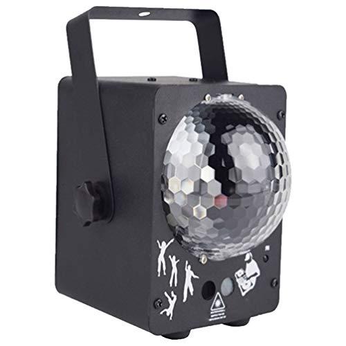 WINOMO Luces LED de Discoteca para Fiesta DJ Luces de Escenario RGB Proyector de Bola de Discoteca Iluminación de Control de Voz Luces Estroboscópicas para Fiesta de Cumpleaños Bar