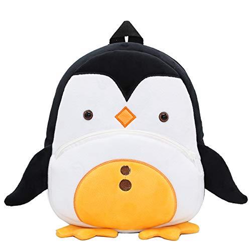YYZZ Mochila de Felpa, Lindo pingüino Amarillo Mochila de Felpa Mochila Escolar niños Que empaquetan Dulces Libro de Juguete Mochila para niños