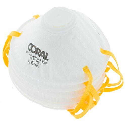 Herramientas de Coral Coral 78300Essentials con válvula FFP1, grado con Comfort Fit Juego de 5unidades–amarillo