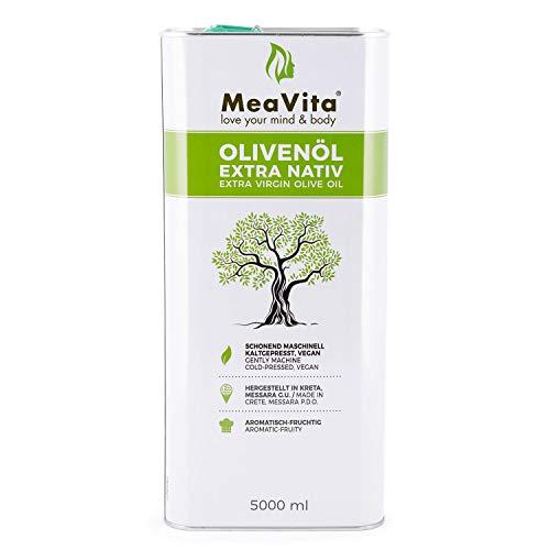 MeaVita Olivenöl, extra nativ & kaltgepresst, (1x 5000ml) fruchtiges Olivenöl im Kanister