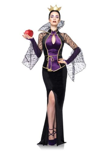 Leg Avenue Costumes Disney 3Pc.Evil Queen Includes Dress Belt and Crown Head Piece