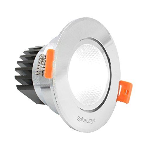 SpiceLED faretto LED da incasso'DOWNLED' (6 W) Alu 230 V Bianco caldo