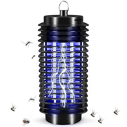 Yalloover Mosquitos Trap Lampara Antimosquitos Lampara Matamoscas Electrico Luz Ultravioleta Bug Zapper Electrónico para Patio Trasero, Patio,EU Plug