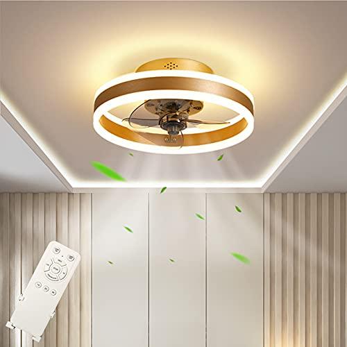 Ventilador de Techo con Iluminación 48W Regulable Lámpara de Techo 3 Temperaturas de color & 4 Velocidades, Lámpara de Ventilador con Control Remoto, Luz de Techo para Dormitorio Restaurante Ø40cm