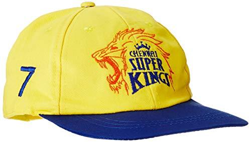 Seven by M.S. Dhoni Men's Cap (CSKC-107_Yellow/Blue_Free Size)