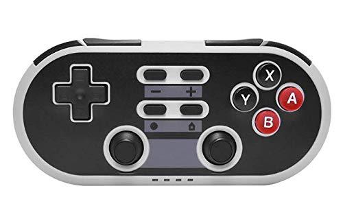 Maxjaa NES-Klassiker Wireless Controller Bluetooth Gamepad fern Joypad wiederaufladbare Game Controller mit gyro und Schwerkraft-Sensor dual-Vibration Turbo für pc ps3 Android Nintendo