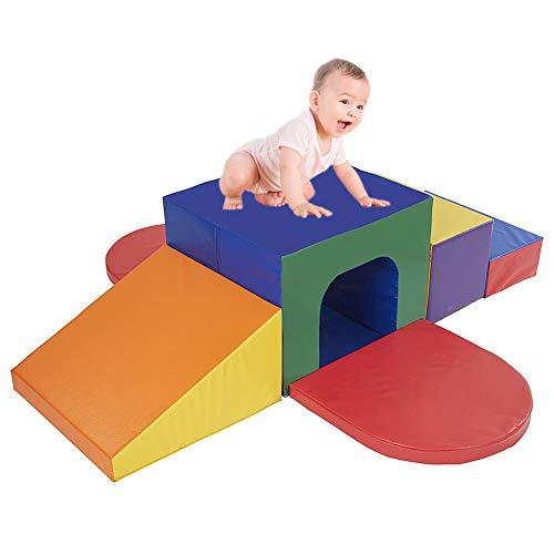 JINGBO Schaumstoffbausteine Riesenbausteine Zum Toben Und Klettern Spielzeug Softbausteine Großbausteine Mehrfarbig Für Kinder Im Vorschulalter Babys Und Schulkinder