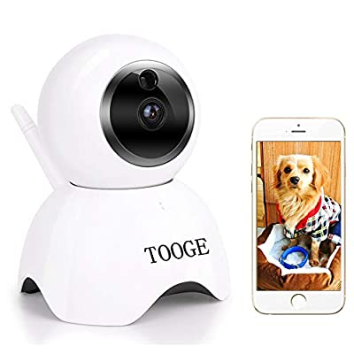 TOOGE Pet Camera, Dog Camera FHD Pet Monitor Indoor Cat Camera Night Vision 2 Way Audio and Motion Detection(Updated) from TOOGE