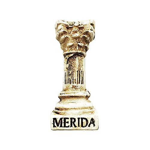 Imán para nevera con pilar 3D de Mérida México, regalo de recuerdo, hecho a mano para decoración del hogar y la cocina, colección de imanes de nevera