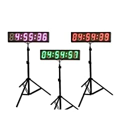 EYOU 5 6 Digits (7 Colors) LED Countdown Clock Race Timing for Running Events (RGB)