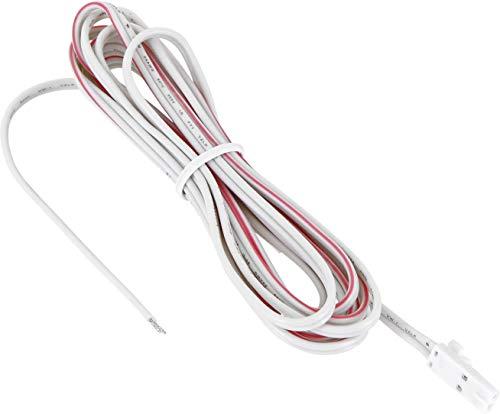 12V MINI-AMP - 2m Kabel mit Stecker - Verbindungskabel Anschlusskabel - weiß