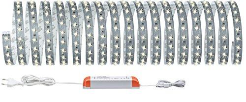 Paulmann 70829 MaxLED 500 Strip Basisset 10 m 2700 K Warmweiß LED Stripe unbeschichtet 53,5W Lichtband 5500 lm Lichtstreifen 72 LED 24 V