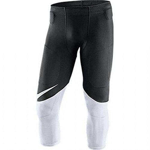 Nike Men's Team Vapor Speed Football Pants 835340 010 Black White Size L