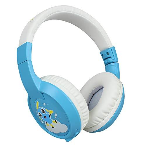 docooler lightweight headphones Docooler Wireless Over Ear Headphones Children's BT Headset Kids Wirelessly Earphone Built-in Microphone with 85dB Volume Limited Hearing Support TF Card for Children Study/Entertainment