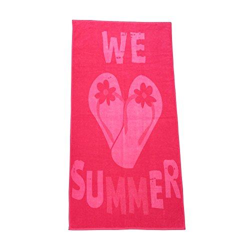 Dreams Strandlaken Flip Flop pink, 90x180 cm