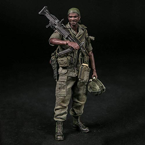 Action Figures 1/12 U.S. Army 25Th Infantry Division M60 Machine Gunner Military Soldier Toy Statue Model PVC Environmental Protection Materials Ornaments Birthday Gifts for Fans And Friends