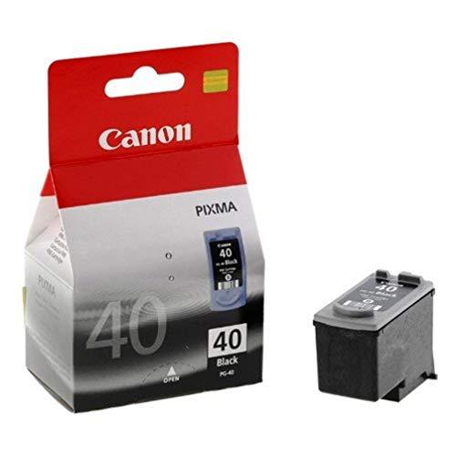Canon PG-40 Negro cartucho de tinta - Cartucho de tinta para impresoras (Negro, iP1300, iP1600, iP1700, iP1800, iP1900, iP2200, iP2500, iP2600, JX200, JX210P, JX500, JX510P,..., Inyección de tinta, Ampolla)