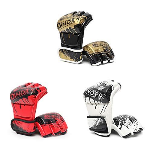 YUXINXIN bokshandschoenen voor training Muay Thai - PU-lederen handschoenen voor sparring, kickboksen en zware bokszakken, fighting, bag Mitts, focus Mitts Medium zwart