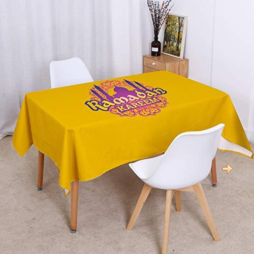 ASSDG Tischdecken Küche Restaurant Wohnzimmer Haushalt Einfach Elegant Muslim Meal Islam Moschee Wasserdicht Antifouling Ölsicher Waschbar 140 * 180cm