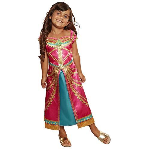 Disfraz de Jasmine de Aladdin de Disney, color rosa fucsia: Amazon ...