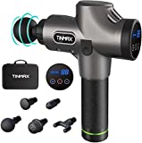 Massage Gun for Athletes,Latest Muscle Massager Deep Tissue Percussion,Professional Handheld Ultra Quiet Cordless Electric Massage Device for Pain Relief(5 Massage Heads & 30 Speed Levels)