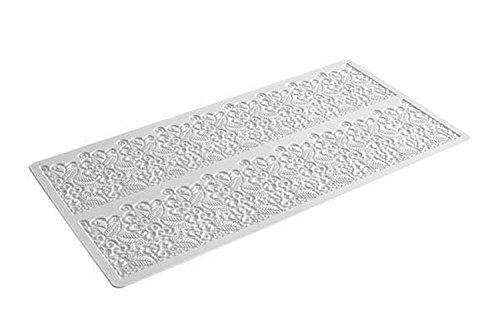 TRD07 Baroc, tapete de Silicona para Realizar Encajes de azúcar, Color Blanco