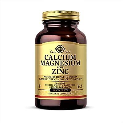 Solgar Calcium Magnesium Plus Zinc Tablets, Pack of 100