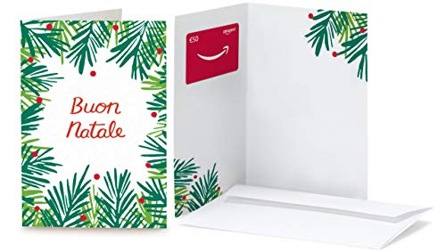 Buono Regalo Amazon.it - €50 (Biglietto d'auguri Foglie di Natale)