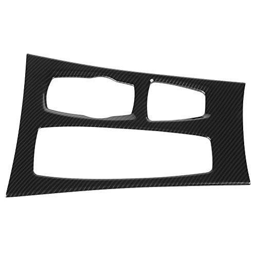 KIMISS Gear Panel, Pannello Centrale in Fibra di Carbonio Console Cambio Copertura del Telaio Trim Sticker Decal per X5 X6 E70 E71 2008-2014