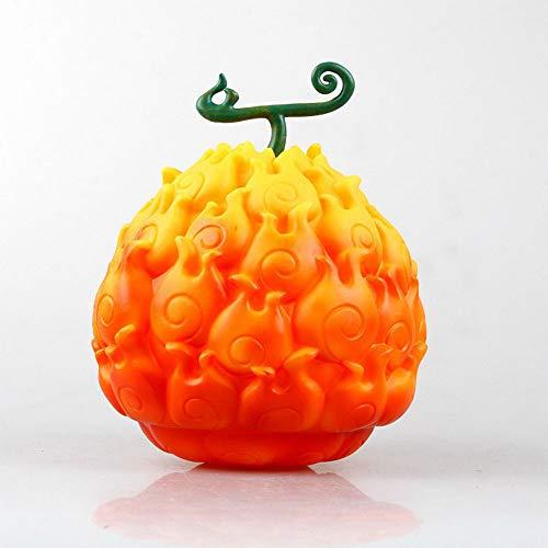 QIYHB 17cm Figura de Anime de una Pieza Fruta del Diablo Luffy Borrador de Goma Fruta Ace Burning Fruit Edición Premium Escultura Decoración Decoración Estatua Estatuilla Modelo de Juguete