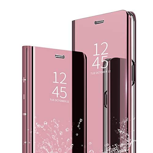 Samsung Galaxy S9 Plus SC-03K SCV39 ケース Galaxy S9 Plusカバー Galaxy S9 Plus 革のカバー Galaxy S9 鏡面視窓 Galaxy S9 Plus 鏡面カバー 全面保護 強化ガラスフィル