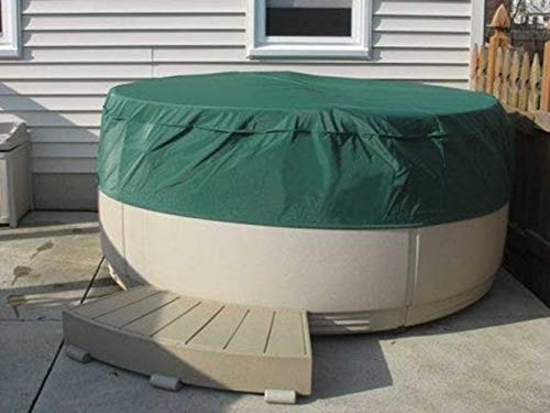 Covermates Round Hot Tub Cover - Light Weight Material, Weather Resistant, Elastic Hem, Outdoor Living Covers-Green
