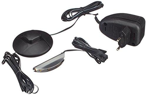 Firstloft San Marino 1er LED Clip-verlichting (warm wit) incl. stekkeradapter met voetschakelaar, zwart, 1,5 x 5 x 0,7 cm