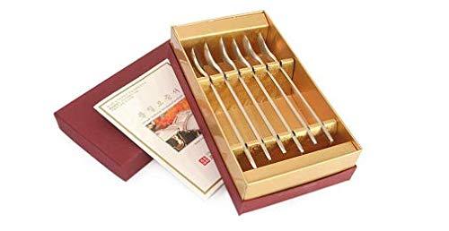 6P SET Bangjja Yugi Korean Traditional Tableware Coffee Spoon, Stirring Spoon, Tea Spoon, Ice Cream Spoons, Great for gift