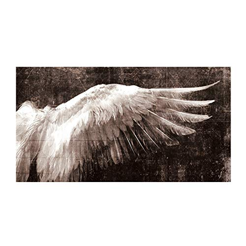 SLQUIET Sin marco moderno alas de ángel decoración de plumas pintura mural sala de estar dormitorio decoración del hogar impresión arte pintura lienzo pintura Sin marco 30x90 cm