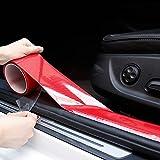 Allure Auto 5D Carbon Fiber Red Car Styling Door Anti-Collision Strip Stickers Car Door Edge Guards Protector Decoration 5 cm Width x 5 Meter Length for Kia Sonet