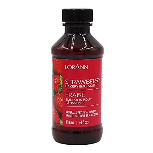 LorAnn Strawberry Bakery Emulsion, 4 Ounce Bottle