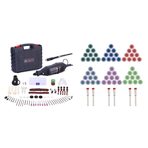 GOXAWEE Rotary Tool Kit with Radial Bristle Disc Bundle