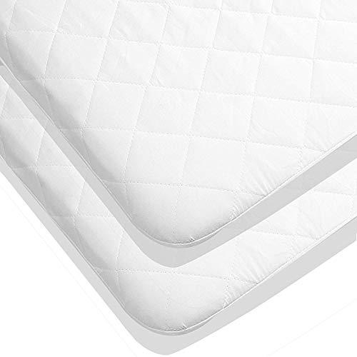 Protector (Paquete de 2) De Colchón Impermeable Para Cuna - Hipoalergénico Protector Colchón Acolchado Para Camas De Bebé Por Utopia Bedding (70 x 140 cm)