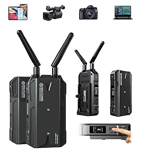 Hollyland Mars 300 Pro Enhanced Wireless Transmitter & Receiver 1080p HDMI System 5G Wireless Video & Audio Transmission, 300ft Range 80ms Latency APP Support iOS Android 2 Battery Pack & AC Charger