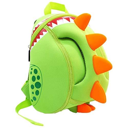 yisibo Mochilas para Niños Kindergarten Preescolar para Niños Pequeños/Niñas Mochila 3D Bolsa De Animales Mochilas para Niños Linda Mochila De Guardería, 2-6 Años(Dinosaurio-Verde)
