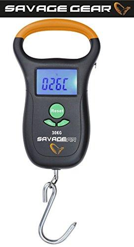 Savage Gear Digitale weegschaal, tot 10 kg, L-tot 30 kg, digitale weegschaal, vissen en bagage wegen
