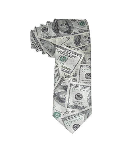 Corbata de moda para hombre Corbata de dólar de EE. UU. Corbata talla única