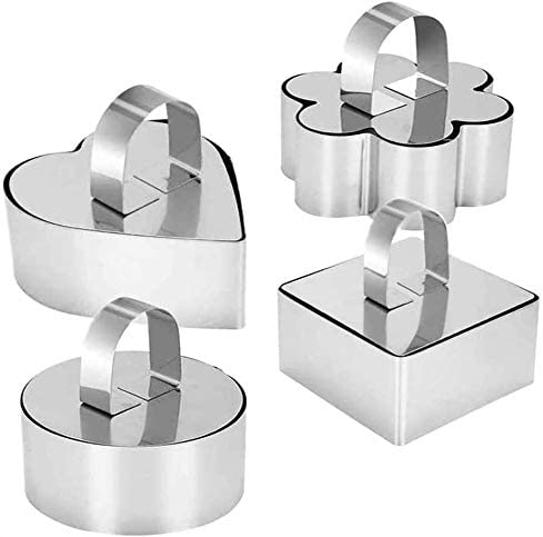 Defemim Stainless Popularity Steel 3D Cake Max 73% OFF with Cooking Molds Pusher Lifter