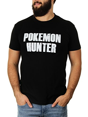 Pokemon Hunter - Herren T-Shirt von KaterLikoli, Gr. L, Deep Black